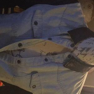 Joe's denim real leather shirt or a jacket